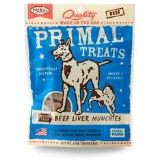 Primal Beef Liver Munchies Freeze-Dried Dog & Cat Treats, 2-oz. bag.