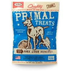 Primal Pork Liver Munchies Freeze-Dried Dog & Cat Treats, 2-oz. bag.