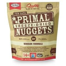 Primal Pet Foods Freeze Dried Cat Food- Venison 5.5oz..