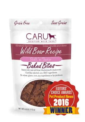 Caru  Dog Natural  Wild Boar Treats  Bites 4oz.