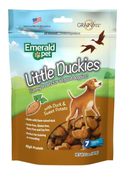 Emerald Pet Little Duckies and Sweet Potato Dog Treats 5oz.