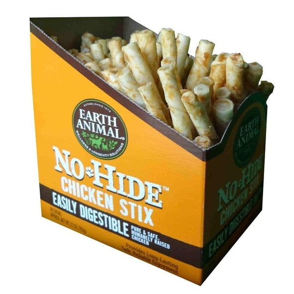 Earth Animal No Hide Chicken Stix Dog Treats,90 count - Leaderpetsupply.com