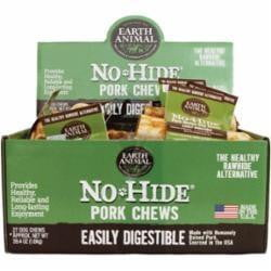 Earth Animal No Hide Pork Chews Dog Treats 27 counter Display Box - Leaderpetsupply.com