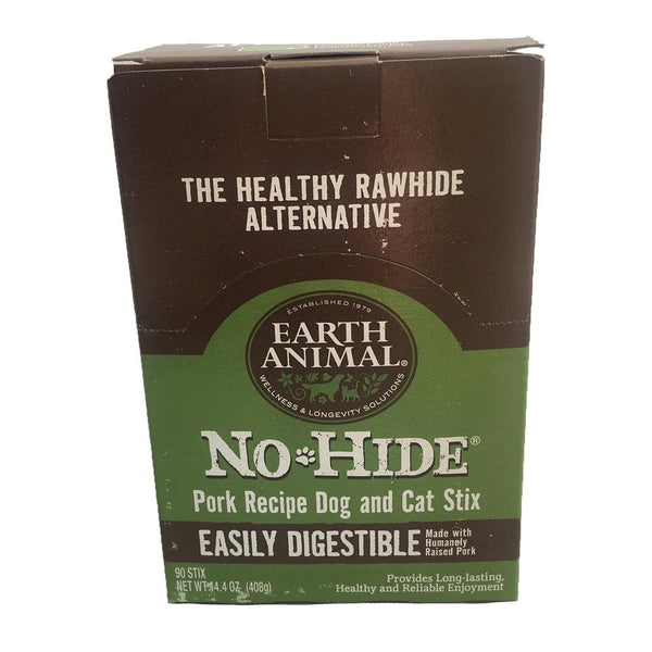 Earth Animal No Hide Pork Chews Dog Treats,90 count.
