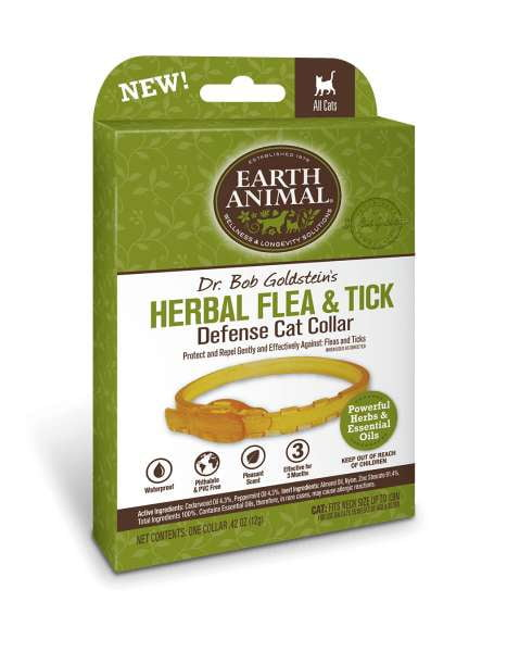 Earth Animal Herbal Flea and Tick Collar for Cats.