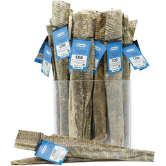 ICELANDIC DOG COD SHORT SKIN STRIPS 36 PIECES DISPLAY - Leaderpetsupply.com
