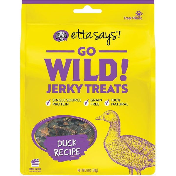 Etta Says! Dog Wild Jerky Duck 6 oz..