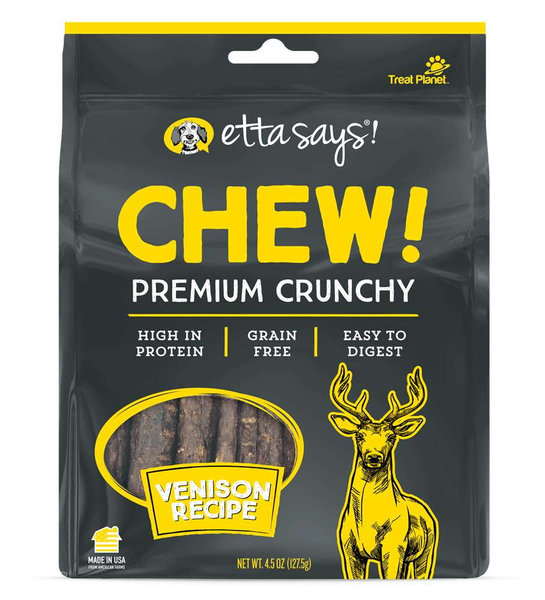 Etta Says! Dog Chew Crunchy Venison 4.5 oz..