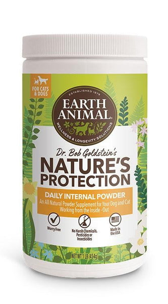 Earth Animal Flea and Tick Program Daily Internal Powder For Dogs 16oz.