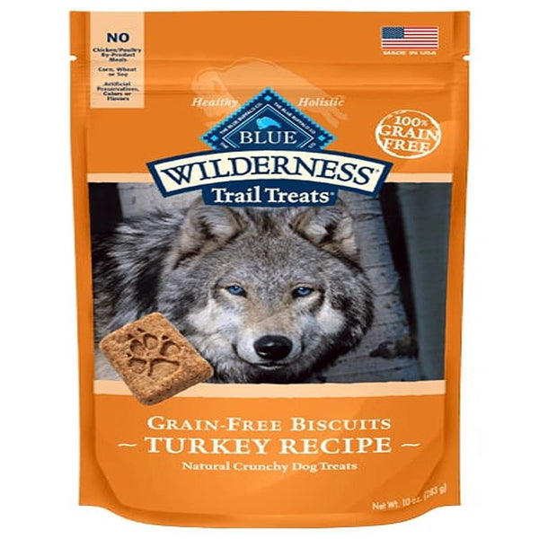 Blue Buffalo Dog Wilderness  GF Biscuit Turkey 10 Oz.