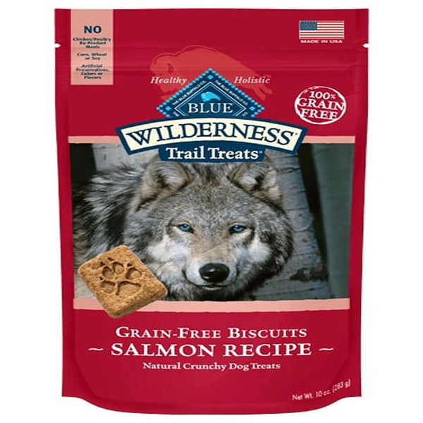Blue Buffalo Dog Wilderness  GF Biscuit Salmon 10 Oz.