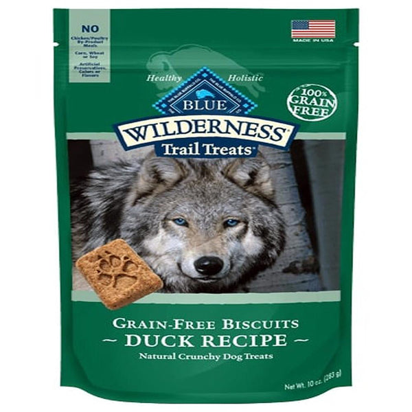 Blue Buffalo Dog Wilderness  GF Biscuit Duck 10 Oz.
