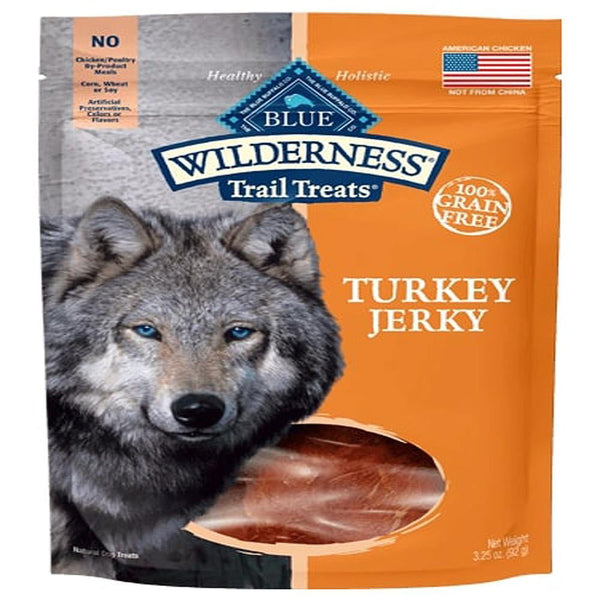 Blue Buffalo Dog Wilderness  GF Jrky Turkey 3.25 Oz.