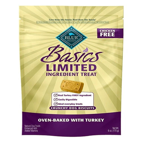 Blue Buffalo Dog  Basic Biscuit Turkey  6 Oz.
