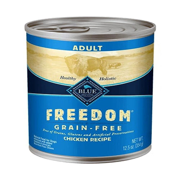 Blue Buffalo Dog  Freedom  GF Chicken 12.5 Oz.(Case of 12).