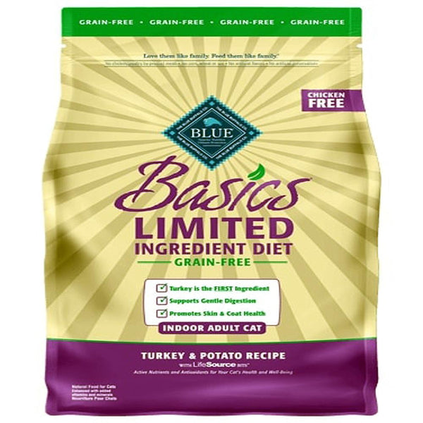 Blue Buffalo Cat  Basic  Grain-Free  Turkey  Potato  11 Lbs.