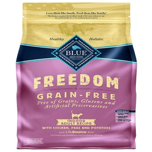 Blue Buffalo Cat  Freedom  GF  Indoor Chicken 5 Lbs