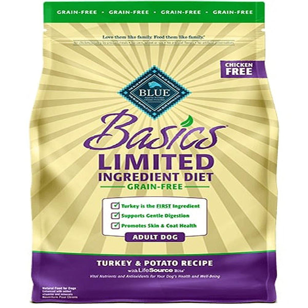 Blue Buffalo Dog  Basic Lid GF Turkey Potato4 Lbs.