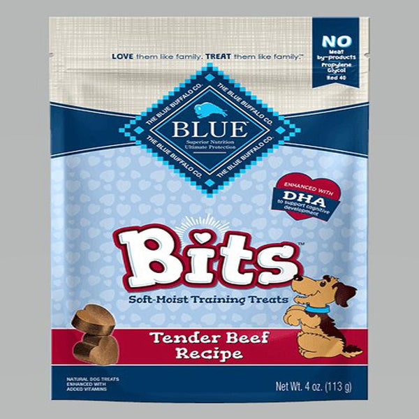 Blue Buffalo Dog Bits Beef 4 Oz..