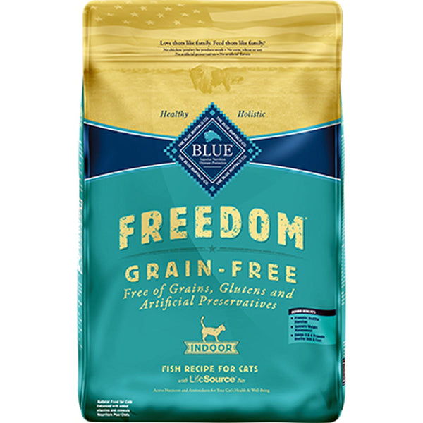 Blue Buffalo Cat  Freedom Grain-Free  Indoor White Fish 11 Lbs.