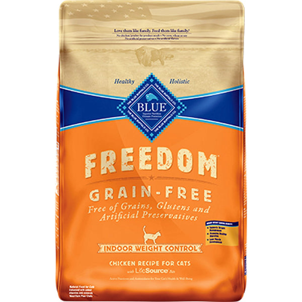 Blue Buffalo Cat  Freedom Grain-Free  Indoor  Weight Control  Trout 11 Lbs..