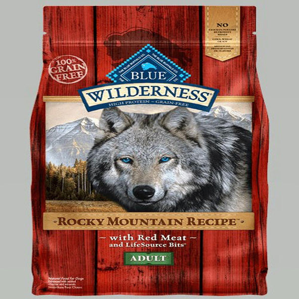 Blue Buffalo Dog Wilderness Rocky  Mountain Red  22 Lbs..