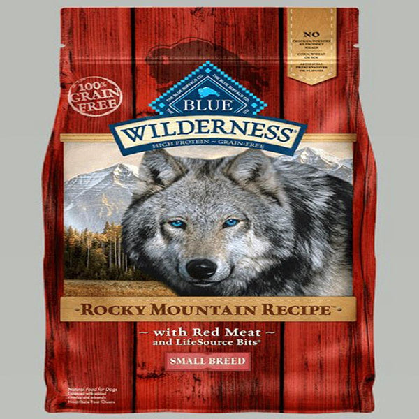Blue Buffalo Dog Wilderness Rocky  Mountain Red Small all Breed  4 Lbs..