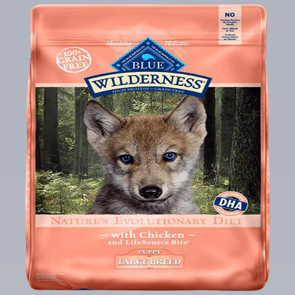 Blue Buffalo Dog Wilderness   Puppy  Grain-Free  Large Breed  24 Lbs..