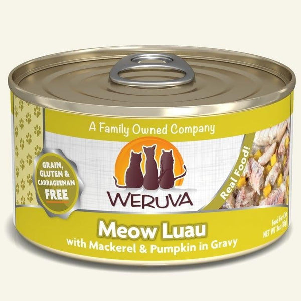 Weruva Cat Meow Luau 3 Oz.  Case of 24.