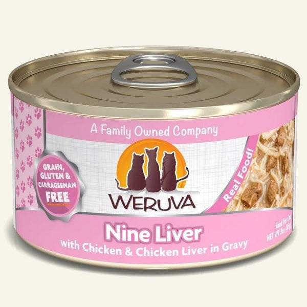 Weruva Cat Nine  Liver  3 Oz.  Case of 24.