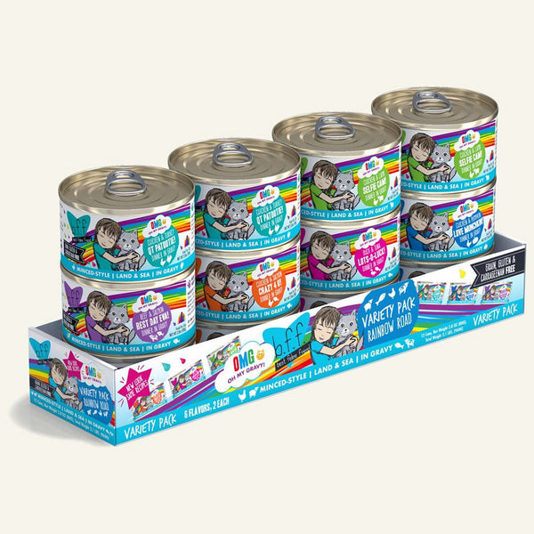 BFF Cat Omg Variety Rainbow 2.8 Oz. Case of  24 (Case of  24).