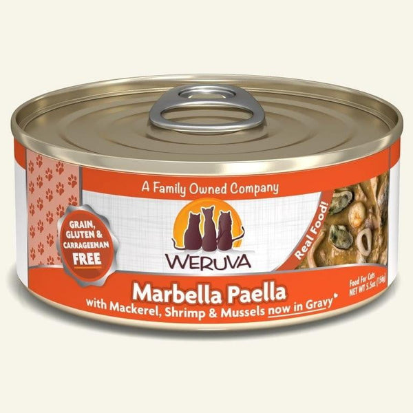 Weruva Cat Marbella Paella 5.5 Oz.  Case of 24.