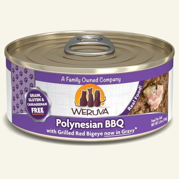 Weruva Cat Polynesian Bbq 5.5 Oz.  Case of 24.