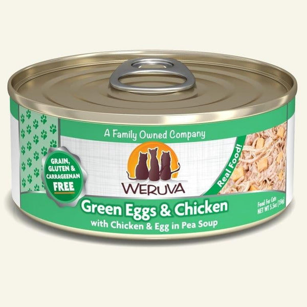 Weruva Cat Green Egg  Chicken 5.5 Oz.  Case of 24.
