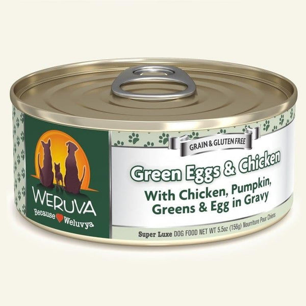 Weruva Dog Green Egg  Chicken 5.5 Oz.  Case of 24.