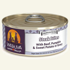 Weruva Dog Steak Frites 5.5 Oz.  Case of 24.