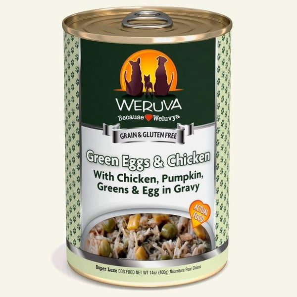 Weruva Dog Green Eggs Chicken 14 Oz.  Case of 12.