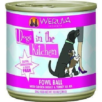 Dogs In the Kitchen Dog Fowl Ball 10 Oz. Case of  24 (Case of  24).