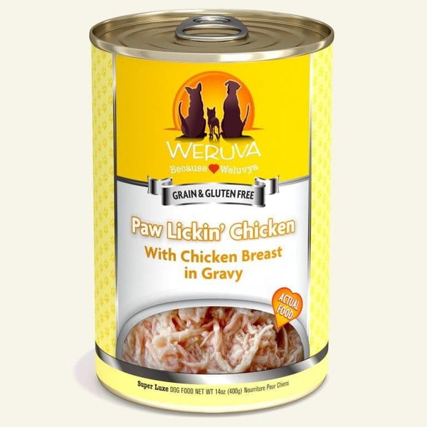 Weruva Dog Paw Lickn Chicken 14 Oz.  Case of 12.