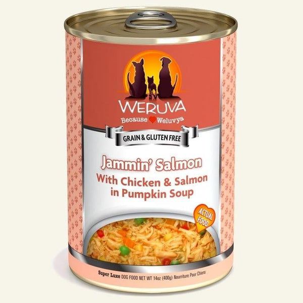 Weruva Dog Jammn Salmon 14 Oz.  Case of 12.