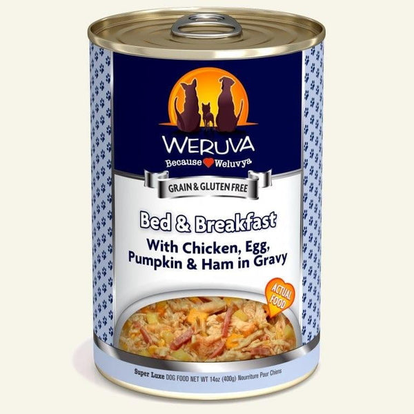 Weruva Dog Bed Breakfast 14 Oz.  Case of 12.