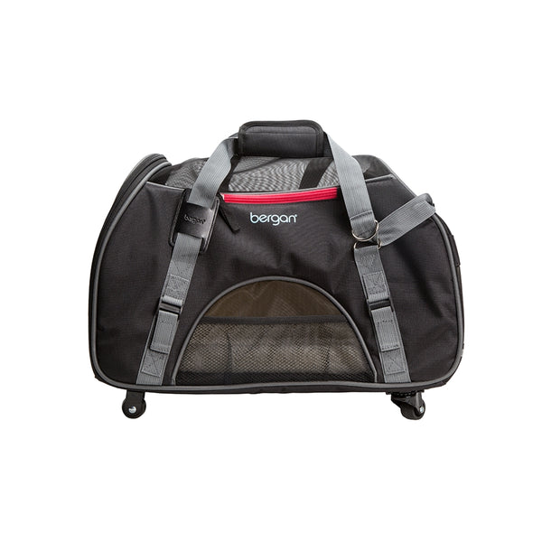 Bergan Wheeled Comfort Carrier Black Large.