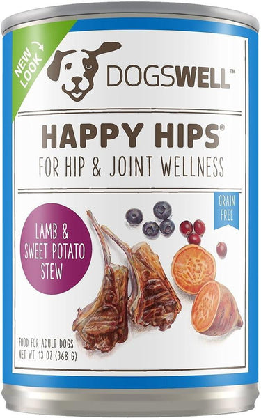 Dogswell Happy Hips Lamb Sweet Potato 13 oz. (Case of 12).