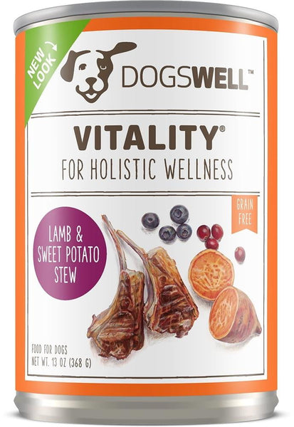 Dogswell Vitality Lamb Sweet Potato 13 oz. (Case of 12).