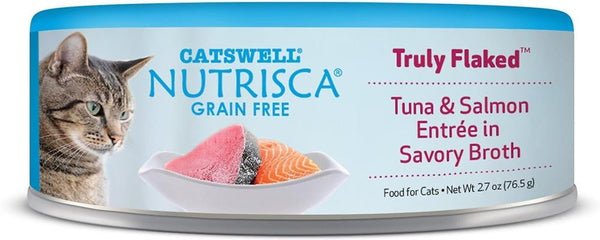 Nutrisca Cat Flaked  Tuna  Salmon 2.7 oz. (Case of 24).