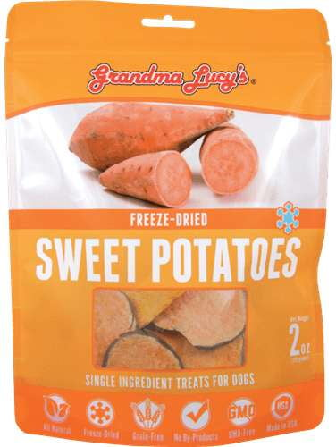 Grandma Lucys Dog Freeze Dried  Sweet Potato  Treat  2 oz...