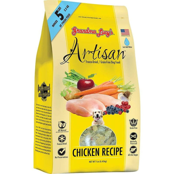 GRANDMA LUCY'S DOG FREEZE-DRIED ARTISAN GRAIN FREE CHICKEN 1LB.
