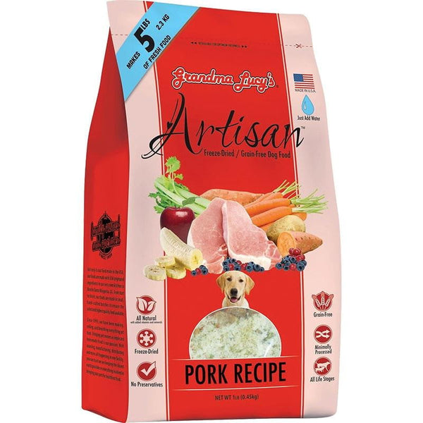 GRANDMA LUCY'S DOG FREEZE-DRIED ARTISAN GRAIN FREE PORK 1LB.
