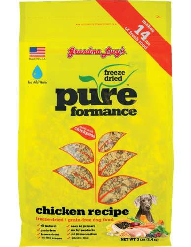 Grandma Lucys Dog  Pure Grain Free Chicken Chickpea  3 Lbs..