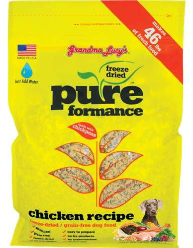 Grandma Lucys Dog  Pure Grain Free Chicken Chickpea  10 Lbs..